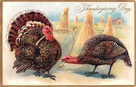 hol064801 - Thanksgiving Postcard Old Vintage Antique Post Card
