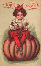 hol064807 - Thanksgiving Postcard Old Vintage Antique Post Card