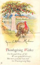 hol064811 - Thanksgiving Postcard Old Vintage Antique Post Card