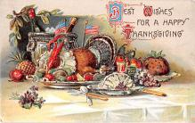 hol064813 - Thanksgiving Postcard Old Vintage Antique Post Card