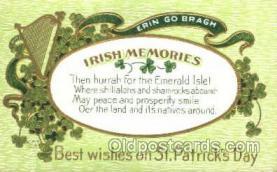 hol070029 - St. Saint Patrick's Day Postcard Postcards