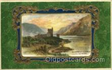 hol070173 - Glenveigh Castle Co Donegal Silk Center, St. Patricks Day Postcard Postcards