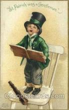 hol070422 - Artist Ellen Clapsaddle, St. Patricks Day, Postcards Post Card