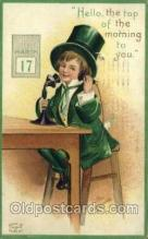 hol070443 - Artist Ellen Clapsaddle, St. Patricks Day, Postcards Post Card