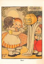 hol100003 - Halloween Postcards Old Vintage Antique Post Card