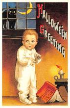 hol100015 - Halloween Postcards Old Vintage Antique Post Card