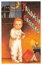 hol100019 - Halloween Postcards Old Vintage Antique Post Card