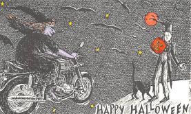hol100029 - Halloween Postcards Old Vintage Antique Post Card