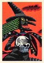 hol100031 - Halloween Postcards Old Vintage Antique Post Card