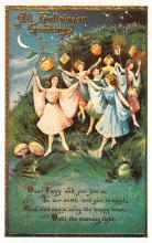 hol100035 - Halloween Postcards Old Vintage Antique Post Card