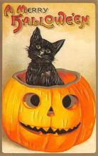hol100037 - Halloween Postcards Old Vintage Antique Post Card
