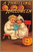 hol100039 - Halloween Postcards Old Vintage Antique Post Card