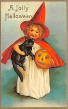 hol100041 - Halloween Postcards Old Vintage Antique Post Card