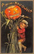 hol100043 - Halloween Postcards Old Vintage Antique Post Card