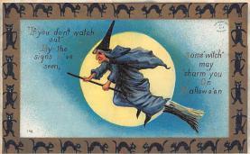 hol100049 - Halloween Postcards Old Vintage Antique Post Card