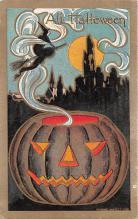 hol100051 - Halloween Postcards Old Vintage Antique Post Card