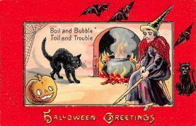 hol100053 - Halloween Postcards Old Vintage Antique Post Card