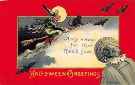 hol100055 - Halloween Postcards Old Vintage Antique Post Card