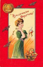 hol100057 - Halloween Postcards Old Vintage Antique Post Card