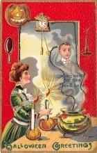 hol100061 - Halloween Postcards Old Vintage Antique Post Card