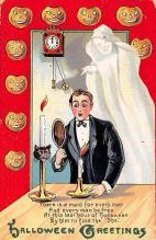 hol100063 - Halloween Postcards Old Vintage Antique Post Card