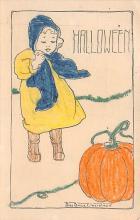 hol100065 - Halloween Postcards Old Vintage Antique Post Card