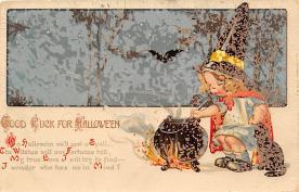 hol100079 - Halloween Postcards Old Vintage Antique Post Card