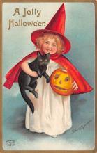 hol100081 - Halloween Postcards Old Vintage Antique Post Card