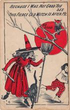 hol100083 - Halloween Postcards Old Vintage Antique Post Card