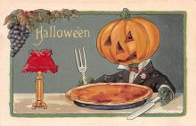hol100085 - Halloween Postcards Old Vintage Antique Post Card