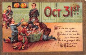 hol100093 - Halloween Postcards Old Vintage Antique Post Card