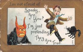 hol100101 - Halloween Postcards Old Vintage Antique Post Card