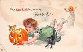 hol100103 - Halloween Postcards Old Vintage Antique Post Card