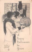 hol100111 - Halloween Postcards Old Vintage Antique Post Card