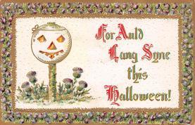hol100133 - Halloween Postcards Old Vintage Antique Post Card