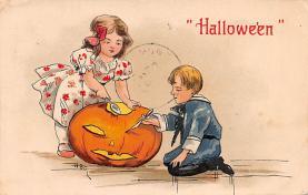 hol100145 - Halloween Postcards Old Vintage Antique Post Card