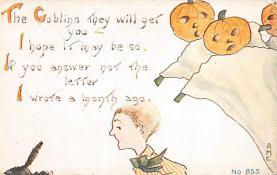 hol100147 - Halloween Postcards Old Vintage Antique Post Card