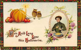 hol100149 - Halloween Postcards Old Vintage Antique Post Card
