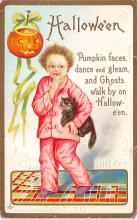 hol100153 - Halloween Postcards Old Vintage Antique Post Card