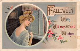 hol100155 - Halloween Postcards Old Vintage Antique Post Card