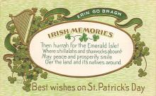 holA070029 - Best Wishes St. Patrick's Day Postcard