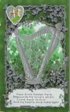 holA070085 - From Erin's Golden Harp Saint Patrick's Day Postcard