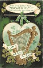 holA070087 - From Erin's Golden Harp Saint Patrick's Day Postcard