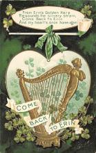holA070089 - From Erin's Golden Harp Saint Patrick's Day Postcard