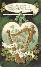 holA070136 - From Erin's Golden Harp St. Patrick's Day Postcard