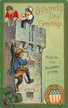 holA070148 - Kissing the Blarney Stone St. Patrick's Day Postcard