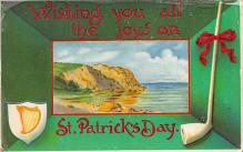 holA070249 - Wishing you all the Joys Saint Patrick's Day Postcard