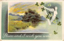 holA070270 - Shure and I wish you Well St. Patrick's Day Postcard