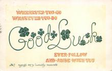holA070290 - Good Luck St. Patrick's Day Postcard