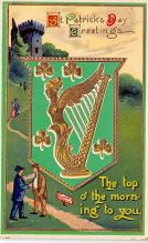 holA070355 - The Top of the morning St. Patricks Day Postcard
